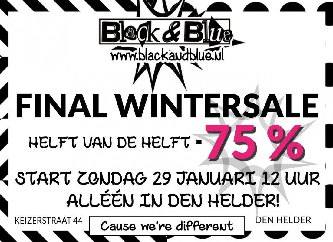 B&B Final Wintersale 75% Off