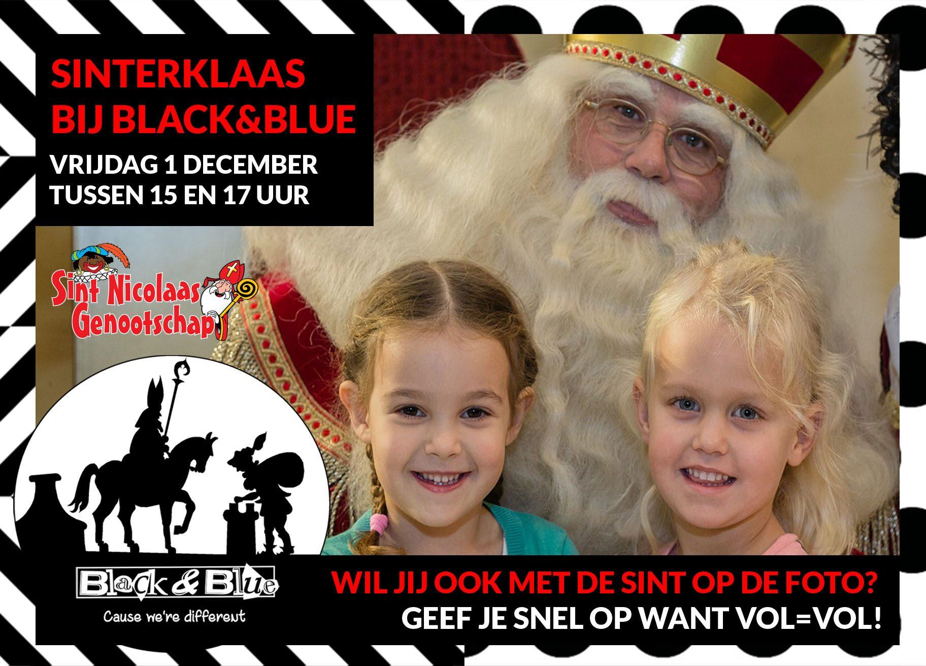 Sinterklaas bij Black&Blue