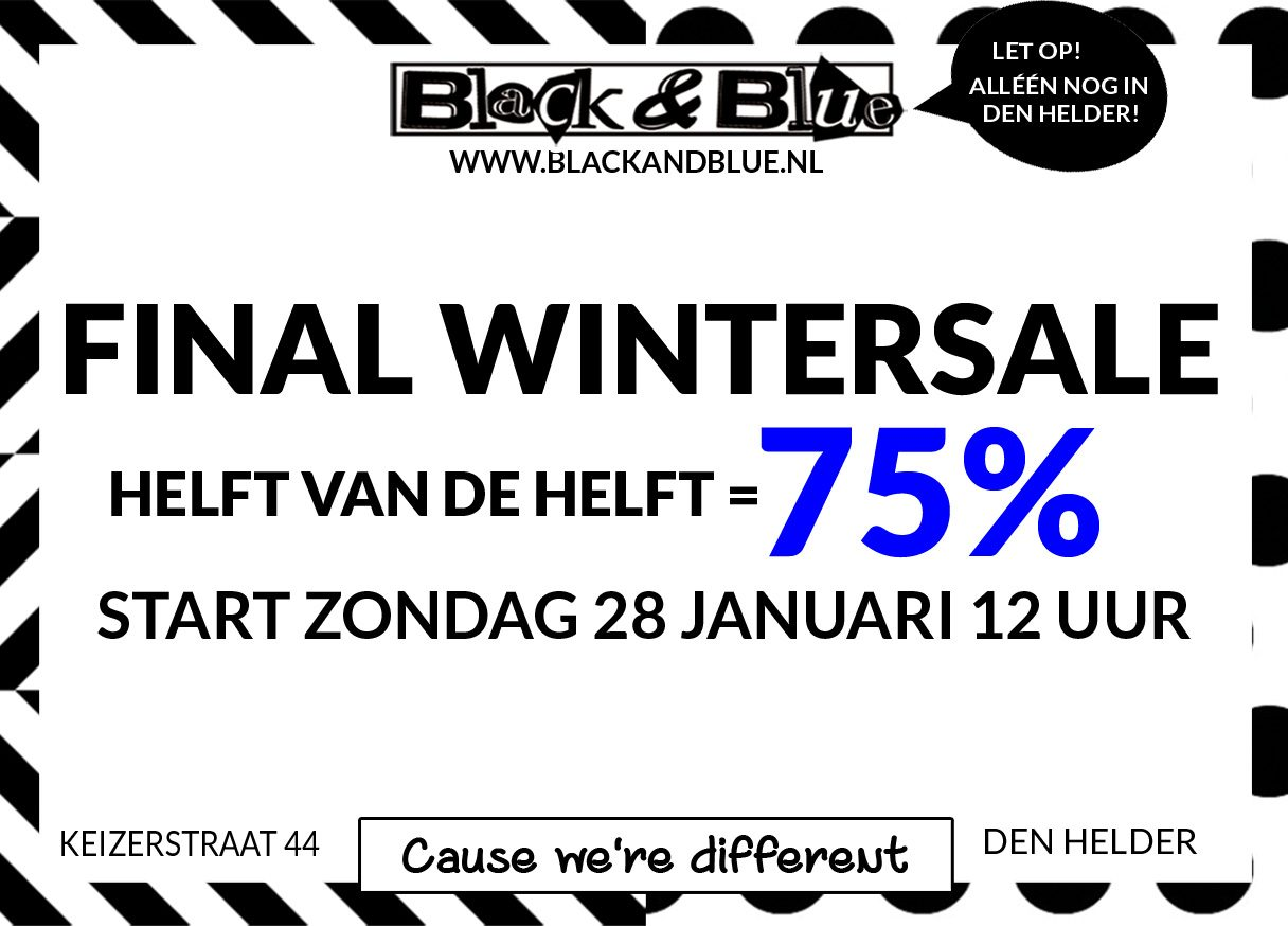 Final Wintersale 75% off